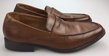 Collection By Clarks Brown Leather Moc Toe Penny Loafers Men's 13 M Soft Cushion