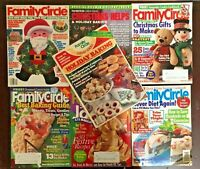 Family Circle Issues1984-1996 Holiday Crafts Baking+ Lot of 7 Vintage Magazines!