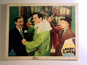 """Reprinted Single Lobby Card The Marx Brothers """"A Night At The Opera"""" 1948 Issue!"""