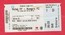 ORIG. biglietto CHAMPIONS LEAGUE 2011/12 Malmö FF-Rangers Glasgow!!! RARO