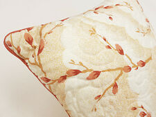 Terracotta & Brown Quilted Scatter Cushion 30 cm x 30 cm Zipped and Piped Pillow