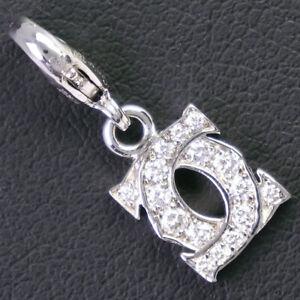 CARTIER Baby charm 2C Pendant top K18 white gold/diamond Women