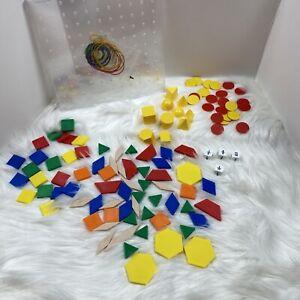 Geoboard Pattern Blocks Fraction Dice Color Tiles Geomodels Solids Homeschool
