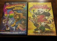 Madagascar 3: Europes Most Wanted (DVD, 2012, Canadian) And Kung Fu Panda 2(DVD)