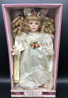 Limited Edition Soft Expressions Genuine Fine Porcelain Doll~ Vintage White Dres