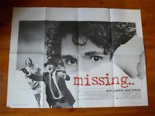 Missing ~ Original Quad Poster 1982 ~ Jack Lemmon / Sissy Spacek