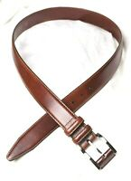 "Excellent REMO TULLIANI Brown Genuine Leather Belt_Sz.38 -- 1 3/8"" (1.375"") Wide"