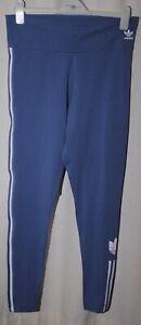 Adidas Ladies Blue & White Leggings / Tights Uk Size 20 Bnwt