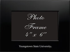 Youngstown State University - 4x6 Brushed Metal Picture Frame - Black