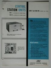 CANADIAN MARCONI Central Station Units DJ86-7 1960 brochure - English