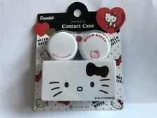 New Sanrio HELLO KITTY Deluxe Contact Lens Case (White) Imported from JAPAN
