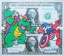 """Avengers/Disney/Mario Brothers"" Hobo Nickel Dollar Art Money Brian Van Pelt"