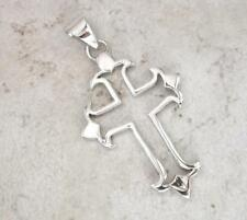LARGE STERLING SILVER CUT OUT  GOTHIC CROSS PENDANT  style# p0223