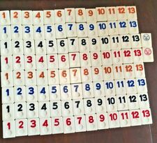RUMMIKUB 1980 Numbers Set of 106 Game Replacement Tiles Crafts Hobbies Scrapbook