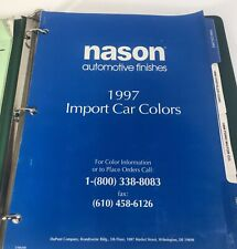 Nason Automotive Finishes Paint Chip Import and Domestic 1996 1997 1998
