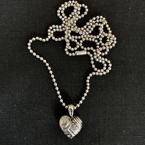 Lagos Caviar Sterling Silver Heart of Philadelphia Pendant w Original Chain