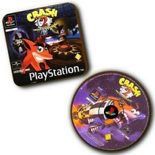 Crash Bandicoot 2 PlayStation PS1 - Box Art + Disc Art Wood Coasters - Set Of 2