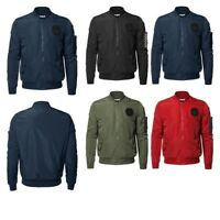 FashionOutfit Men's Premium Quality Sleeve Pocket Bomber Jacket