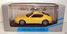 Voitures, camions et fourgons miniatures jaunes MINICHAMPS acier embouti