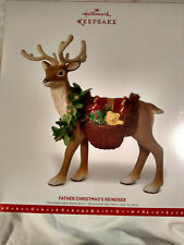 HALLMARK 2016 FATHER CHRISTMAS'S REINDEER LIMITED EDITION table decoration NIB
