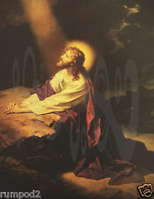 Jesus/Christ/Vintage/Painting/Poster/Jesus in the Garden of Gethsemane/Religious