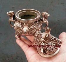 Collection Archaic argent Bronze Statues Dragon incense burner /Censer