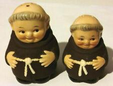 Goebel Vintage Franciscan Friar Monk Antique 1959 Salt Pepper W Germany Hummel