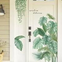 Tropical Leaves Green Plant Wall Sticker Vinyl Decal Home Dormitory Art