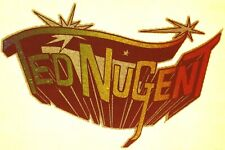 Original Vintage 70s Ted Nugent Music Iron On Transfer Glitter