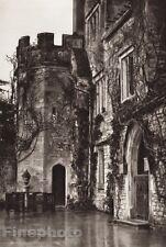 1926 Original UK England ATHELHAMPTON DORCHESTER CASTLE Photo Gravure E.O. HOPPE