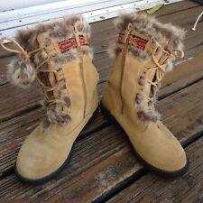 0c45148c5d2a Totes Women s Fur Lined Tan Light Brown Suede Winter Fashion Trek Boots 7  Shoes