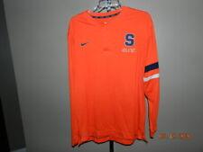 "Nike Elite Size M ""S"" orange blue Basketball Long Sleeve Dri Fit Henley Shirt"