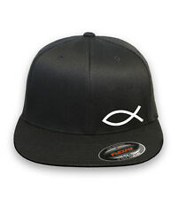 JESUS FISH GOD CHRISTIAN Flex Fit HAT CURVED or FLAT BILL *FREE SHIPPING in BOX*