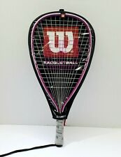 "Wilson Hope Racquetball Racquet ~Breast Cancer Awareness XS~3⅞"" w/ cover"