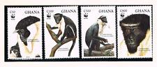 Ghana 1994 Satz 1973/76 WWF/Dianameerkatze/Affe/Monkey Postfrisch