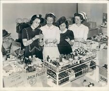 1941 1940s Women Nurses Check Medical Surgical Supplies For Britain Press Photo