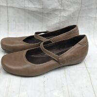 ECCO Brown Leather Mary Jane Comfort Shoes Women's Size 6-6.5 EUR 37
