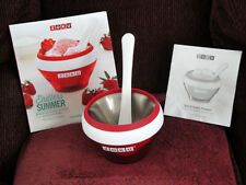 Zoku RED Ice Cream Maker, Manuel with Recipes and 54 Recipe Book