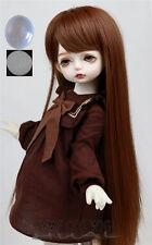 "6-7"" 1/6 BJD Warm Brown Long Straight Wig LUTS Doll SD DZ DOD MSD Blythe Hair P7"