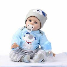 """22"""" Reborn Kleinkind Puppen handgemachte lebensechte Baby Silikon Puppe Junge"""