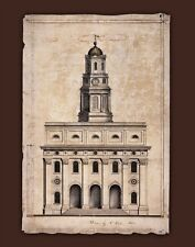 Architectural Drawing of The Nauvoo Temple-Weeks, Nauvoo Art LDS Temple Mormon