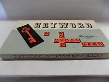 Keyword A Crossword Board Game Parker Brothers 1953 Vintage 100% COMPLETE