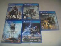 Destiny 1 2 Star Wars Battlefront I II & Titanfall 2 Sony PS4 5 Game Set Lot