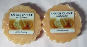 Yankee Candle Simply Home Tart Wax Melts Set of 2 VANILLA FROSTING approx 8 hrs