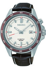 SEIKO SKA645P1,Men's Kinetic,Stainless Steel Case & Leather,Date,100m WR,SKA645