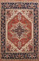Geometric Rust Heriz Hand-knotted Oriental Area Rug Wool Living Room 8x10 Carpet