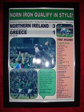 Irlanda del Nord 3 Grecia 1 - 2015-EURO 2016 qualificatore-incorniciato stampa