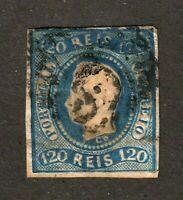 Portugal stamp #24, used, imperf, 1877 - 1867, SCV $70