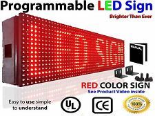 "LED SIGN 25""x6"" Outdoor Programmable  RED color Display Open Message Sign Board"
