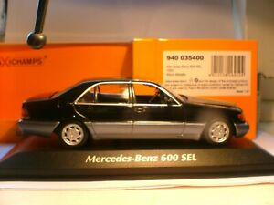 MEGA RARE MAXICHAMPS 1/43 1992 MERCEDES-BENZ 600 SEL V8 (W140) SUPERB DETAIL NLA
